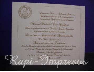 Industria De Rapi Impresos Guatemala Invitaciones Boda